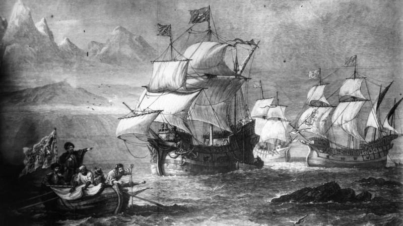 Корабли флотилии Магеллана.